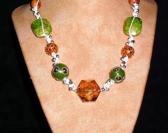 Hemp Jewelry K4 Orange Green Dream