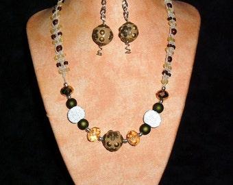 Hemp Necklace K10 Brown Stone