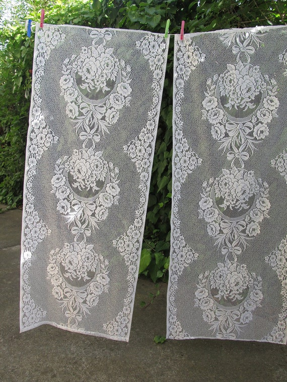 french lace panels, lace curtains, white lace curtains