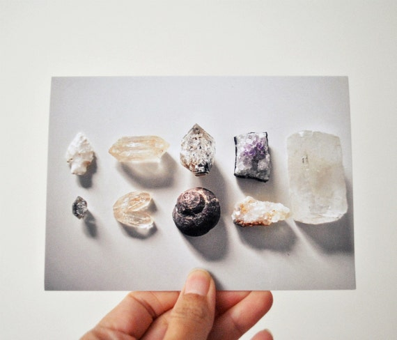 Crystals and Fossils Note Cards - Natural History Photography of Desert  Rocks and Rough Minerals and Quartz - Wall Art