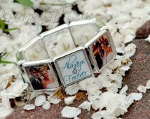 Custom Photo Bracelet - Personalized to your specifications - 8 Spaces for your favorite photos