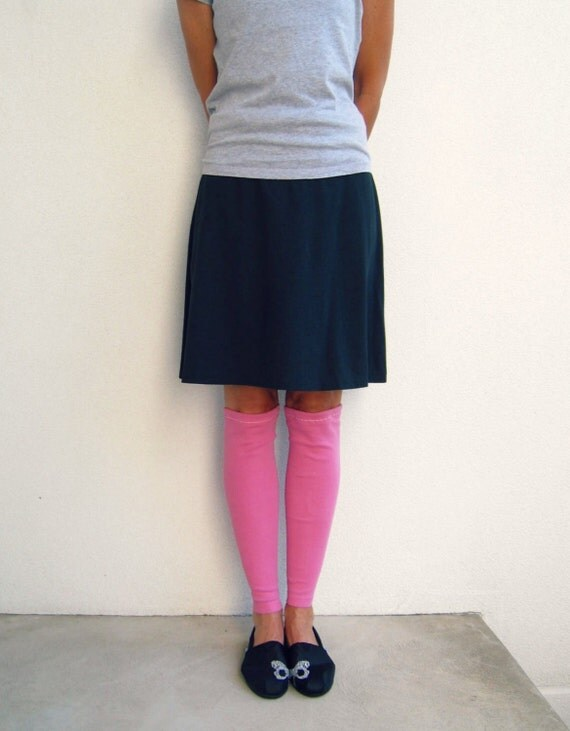 Recycled T Shirt Leg Warmers / Bubblegum Pink / Girls / Teens / Fall / Winter / Soft / Cotton Stretch / Cold Weather / by ohzie