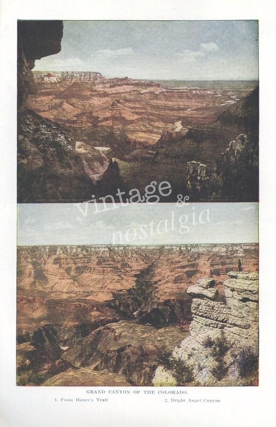 1930s Grand Canyon vintage photograph, Colorado, national park
