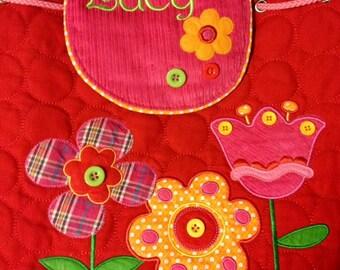 Stephen Joseph Personalized Monogrammed Signature Flower Backpack