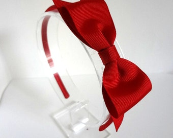 Red Bow Headband/ Red Bow with Spike/ Snow White Headband/ Womens Headband/ Girls Hair Accesories/ Red Hair Bow/ Adult Hair Accessories/ Red