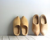 antique wooden clogs - his & hers - wretchedshekels
