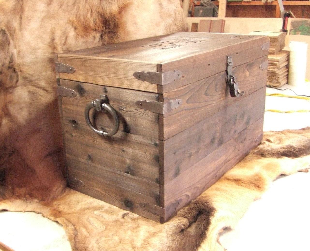 custom storage box trunk coffee table strong box foot locker. Black Bedroom Furniture Sets. Home Design Ideas