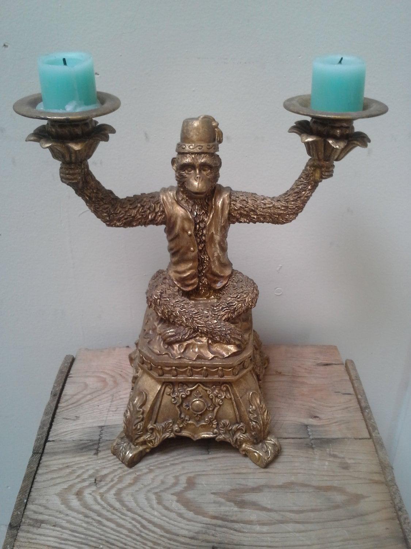 Vintage Shriner Monkey Candle Holder