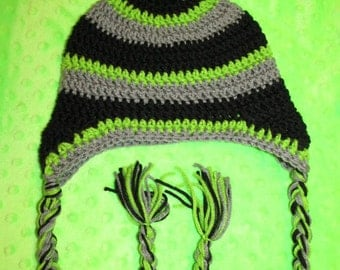 Black and Lime Boy's Hat