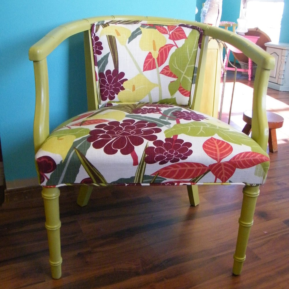 Upcycled Furniture: Upcycled Furniture Mid Century Barrel Back Chair By