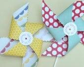 Set of 6 - Sunny Day Pinwheels