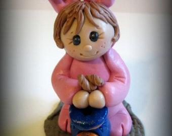 Polymer Clay Halloween Bunny