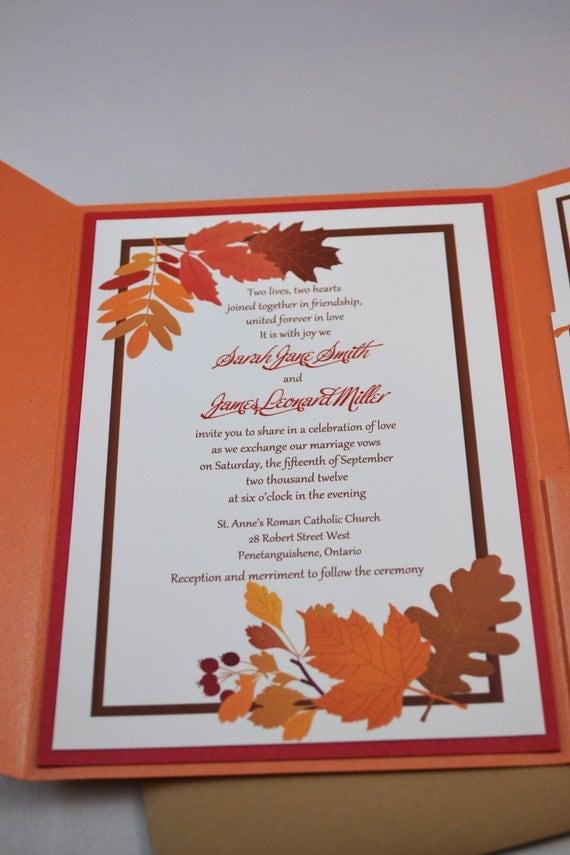 items similar to printable pdf fall wedding invitations With etsy wedding invitations pdf