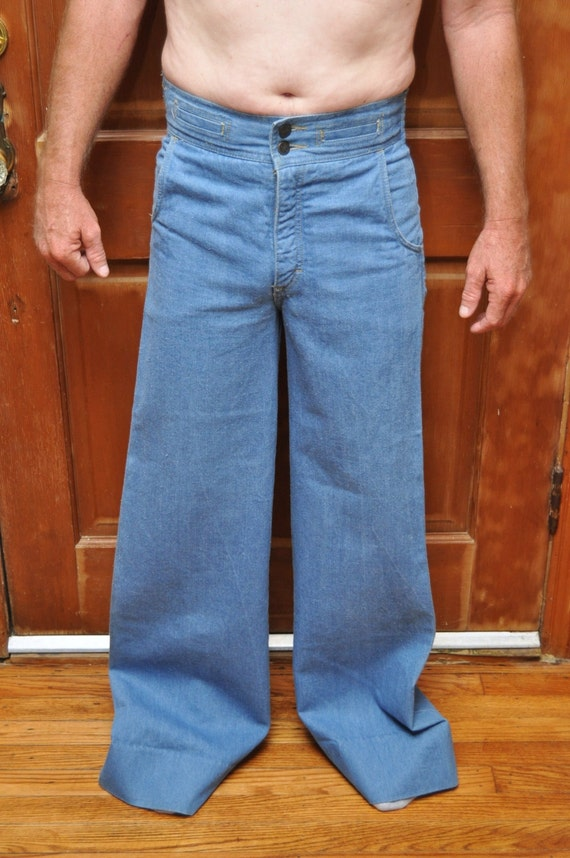 Bell Bottom Jeans By Brittania 70s Era 2 Pocket Vintage Made