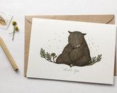 Thank You, Bear - Greeting Card