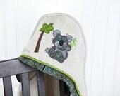 child hooded towel koala applique many colors