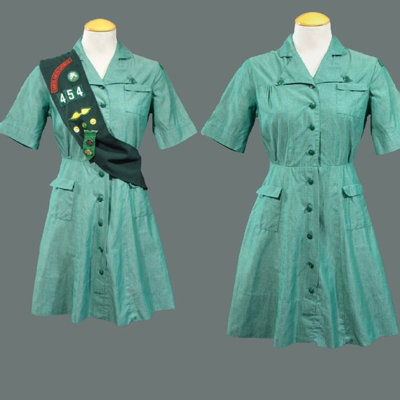 Vintage 1940s 50s Girl Scout Uniform Mini By Geronimovintage