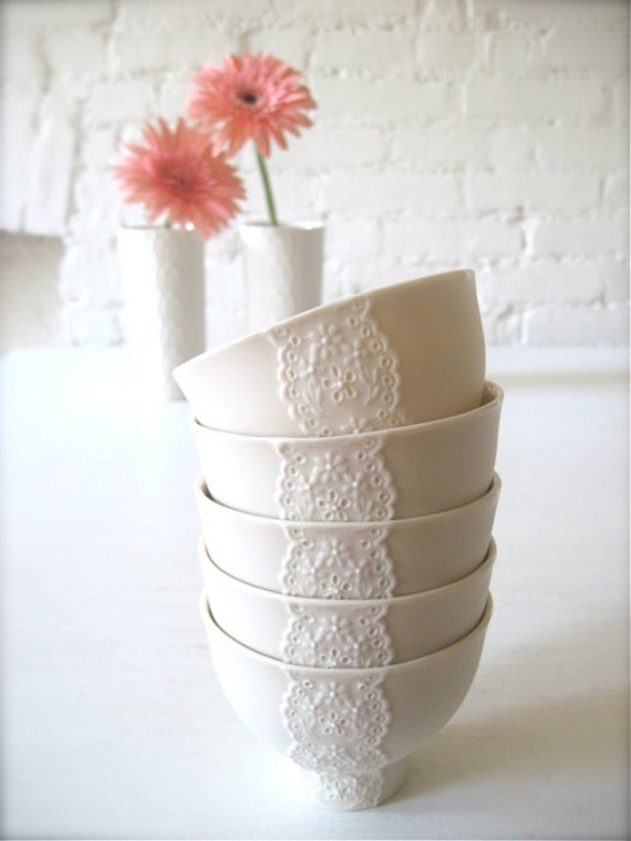Lovely Porcelain Lace Bowl-Hideminy Lace Series
