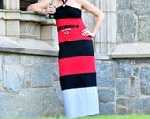 One of a Kind Gameday Maxi Dress made w/ UGA tshirt - Small - Free Shipping