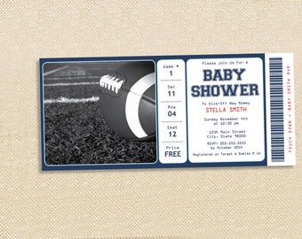 FOOTBALL BABY Shower invitation - set of 15