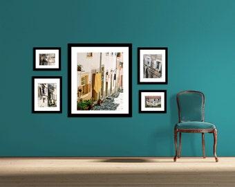 Laundry Room Art - Photography Collection - European Laundry Photographs - Lisbon Dubrovnik Greece - Wall Art - Home Decor