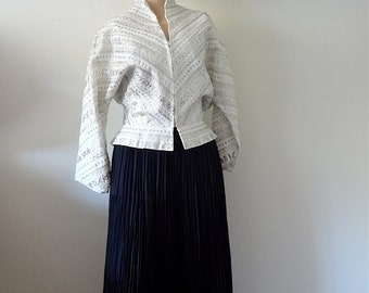 1950s Squaw Dress / 50s western full skirt & blouse / vintage rockabilly fashion size L