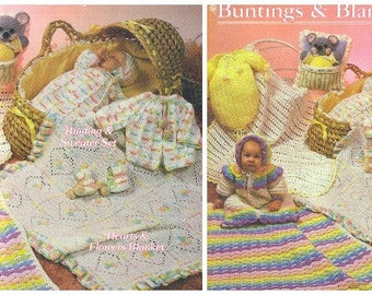 BUNTINGS & BLANKETS, 1986 Annie's Attic Pattern Club CROCHET