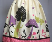 Alice Mushroom Forest Sweet Lolita Skirt Purple Polka dots Crochet Trim Kokka