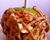 Giant BANANA And PEANUT BUTTER Gourmet Caramel Apple