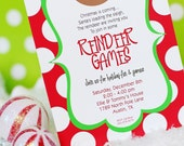 Reindeer Games INVITATION Printable - Christmas Party Invitation - Printable - Rudolph - Party - Cookie Decorating by Amanda's Parties To Go