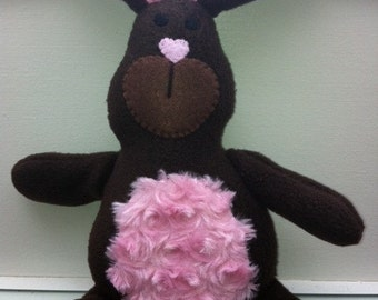 Snuggle Bunny, Dark Brown- Lavender Aromatherapy Stuffed Animal