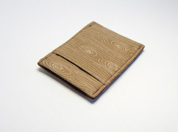 Mens Modern Wallet  / Sleek and Thin Wallet  / Wood Pocket Wallet