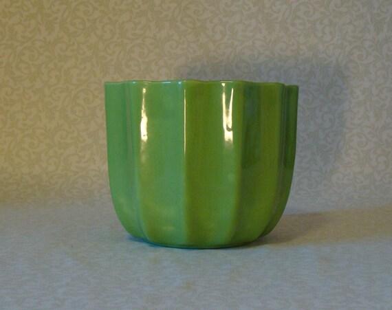 Lime Green Ceramic Planter