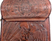 Vintage Indian NATIVE AMERICAN Leather Tooled Bag Purse- Vintage Clothing by TatiTati Vintage on Etsy