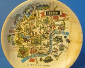 London Sites and Streets - Small Bamboo Souvenir Display Plate