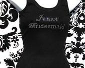 Junior Bridesmaid Rhinestone Tank, Junior bridesmaid, Junior Bridesmaid Bling Junior Bridesmaid shirt, Junior Bridesmaid Tee, Jr. Bridesmaid