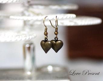 Bridesmaids Sweetie 3D Heart hoop earrings - Choose your color
