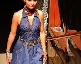 Denim dress By TiCCi Rockabilly Clothing
