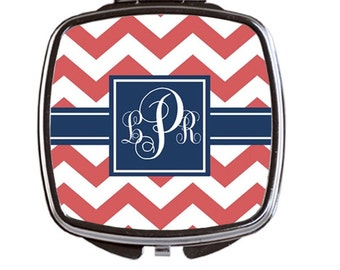 Personalized Compact Mirror with Monogram. Create your Own- Bridesmaid Gift