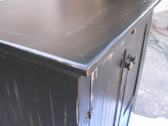 Cabinet,TV or Media, black, shabby cottage chic
