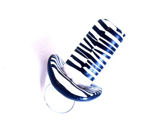 Statement Ring, Zebra Print Ring, Top Hat Ring, Top Hat Jewelry, Rocker Chic, Rock n Roll Jewelry, Bold Ring, Oversized Ring, Cocktail Ring
