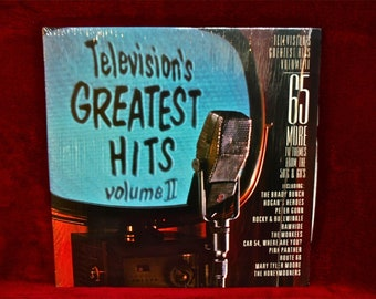 TELEVISION's GREATEST HITs, Vol II - 1986 Vintage Vinyl GATEfold 2 lp Record Album