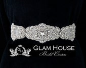 Scalloped Pearl Bridal Belt