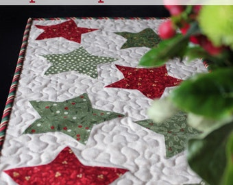 Christmas Star Table Runner PATTERN (PDF)