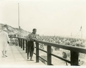 """Vintage Photo """"Reflecting at the Beach"""", Photography, Paper Ephemera, Antique, Snapshot, Old Photo, Collectibles - 0021"""