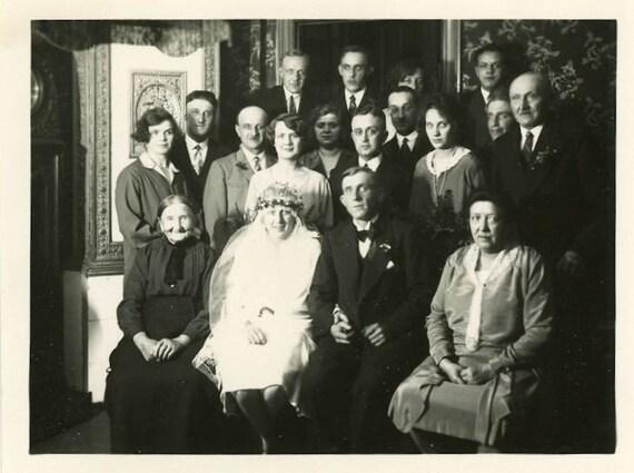 "Vintage Photo ""Midnight Wedding"", Photography, Paper Ephemera, Antique, Snapshot, Old Photo, Collectibles - 0015"