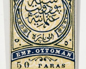 Ottoman Empire - 10x8 inch Mounted Canvas Print from 1876 - Turkey