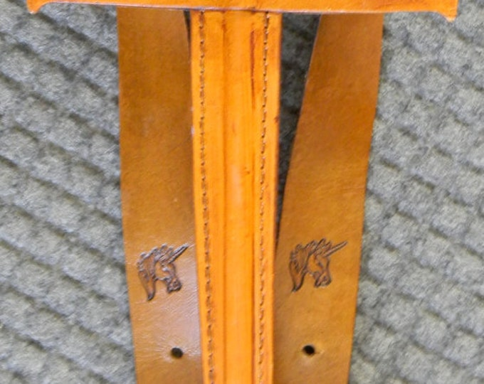 SWORD & sword BELT Set w/ Unicorn Emblem - Handmade Leather
