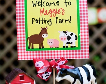 Fresh on the Farm Party Collection: Printable Welcome Sign