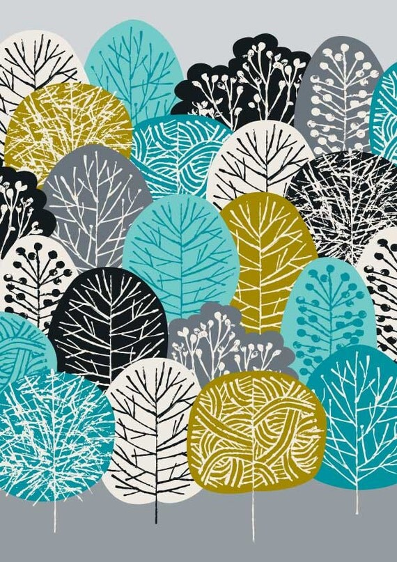 Blue Forest, limited edition giclee print